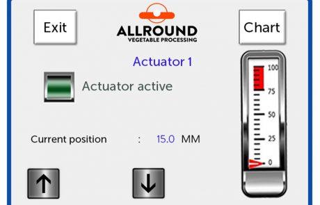 Radial grader screen adjustment 2